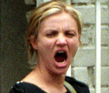 Cameron Diaz - Celebrities yawning