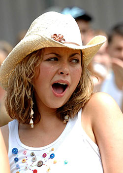 Charlotte Church - Celebrities yawning