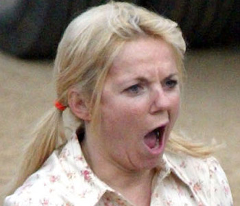 Geri Halliwell - Celebrities yawning