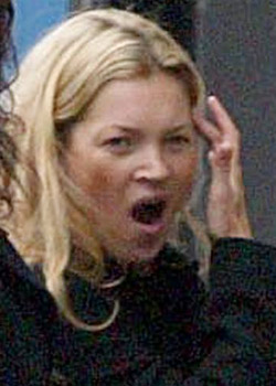 Kate Moss - Celebrities yawning